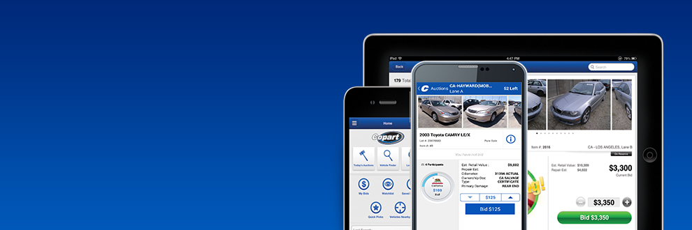 The Copart Mobile App