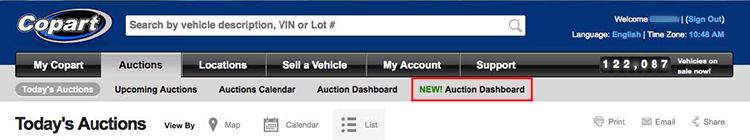 Salvage Car Auctions Live Auction Experience Copart Usa
