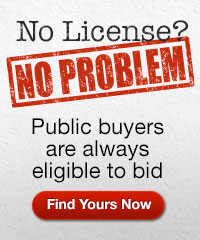 Public buyers are eligible to bid