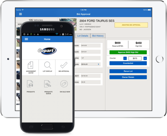 Salvage Vehicles Copart Seller Mobile App Used Car Auction