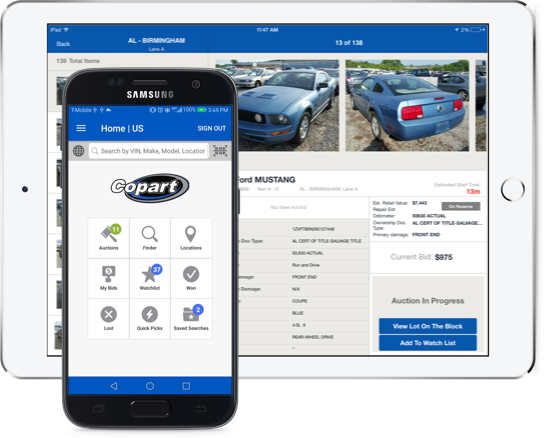 Car Auction Apps >> Copart Usa Leader In Online Salvage Insurance Auto Auctions