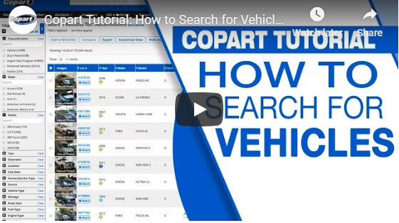 Copart Home Page >> Auto Auction Watchlists Copart Usa
