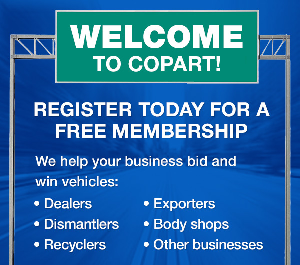 Copart Home Page >> Car Auction Getting Started With Copart Registration